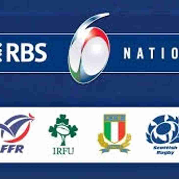 All remaining 6 Nations games will be shown live on the Big screens at the club this weekend.
