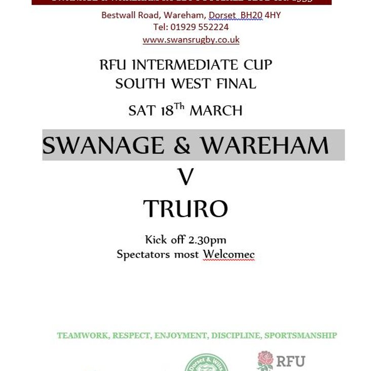 SWANS v TRURO - 18th March - Poster<