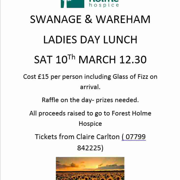 SWANAGE & WAREHAM LADIES DAY LUNCH - 10th MARCH 2018