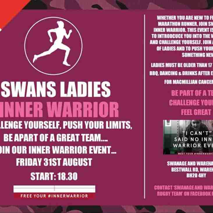 SWANS LADIES INNER WARRIOR EVENT - Friday 31st August 18:30