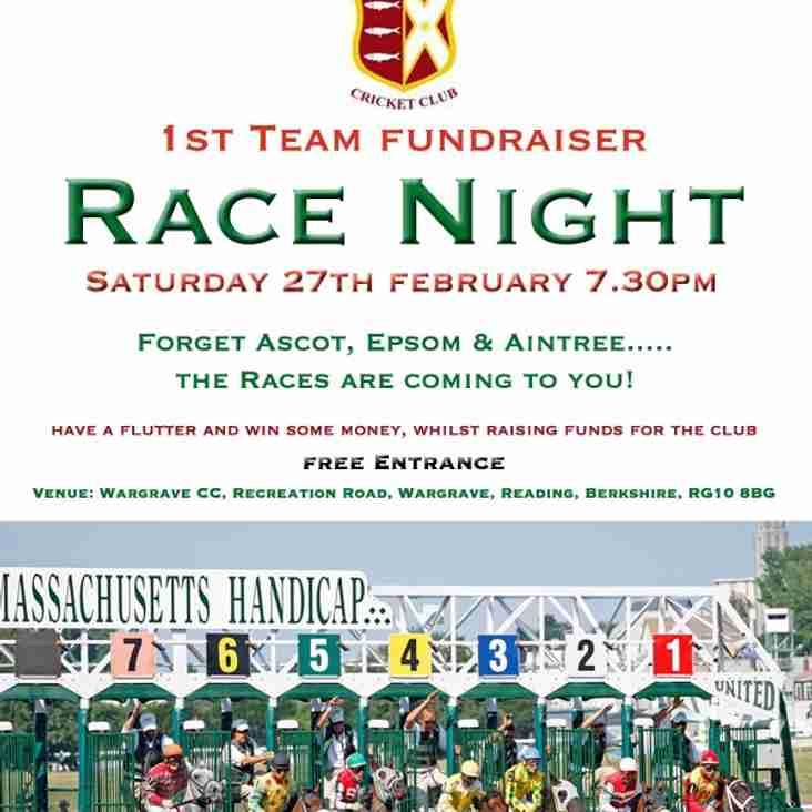 Race Night - SAT 27th Feb 2016