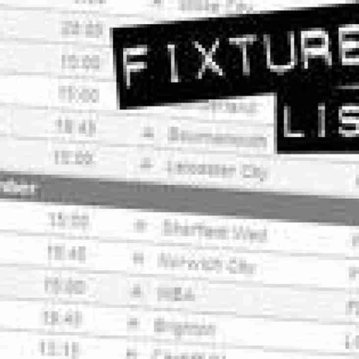 Re-scheduled fixture
