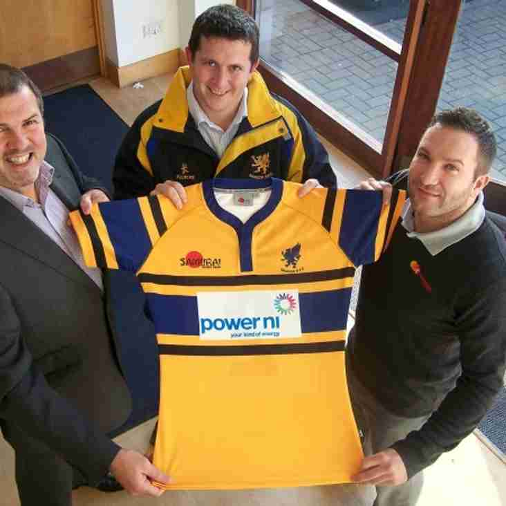 New rugby kit - courtesy of Power NI