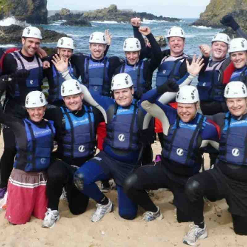 July 2013 - Pre-season 'Coasteering'