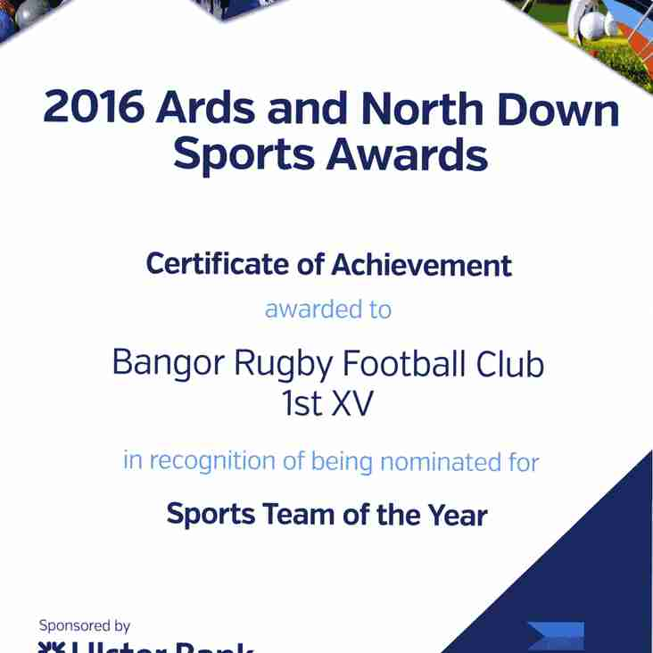 2016 Ards and North Down Sports Awards