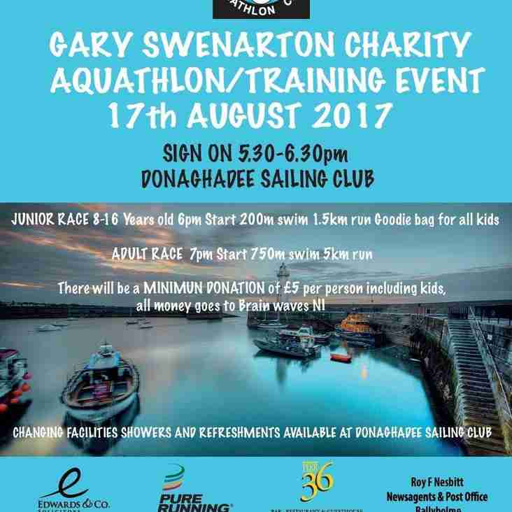 Gary Swenarton charity Aquathlon