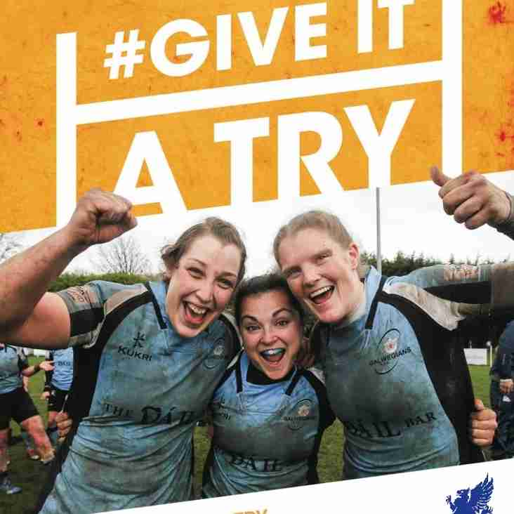 Ladies and youth rugby training