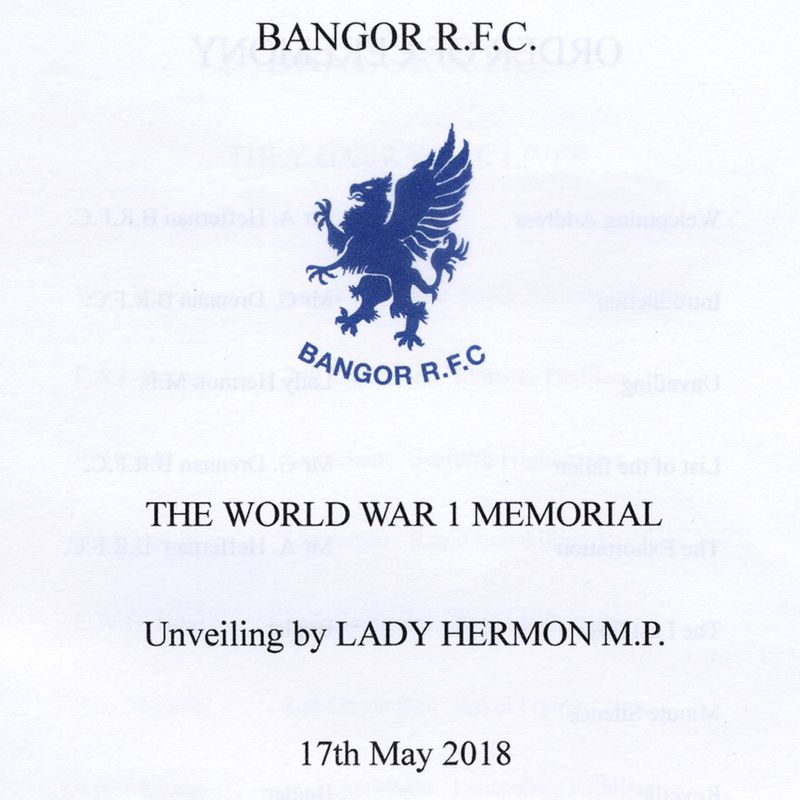 Unveiling of WW1 plaque