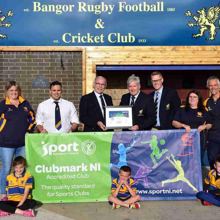 Bangor RFC Achieves Clubmark Accreditation