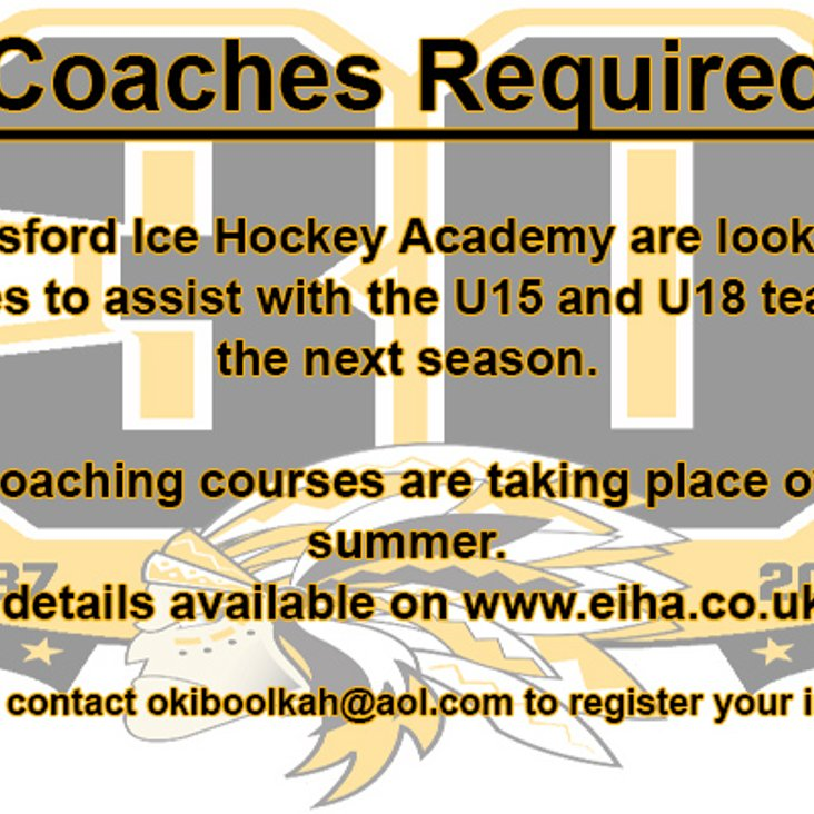 Assistant coaches required<
