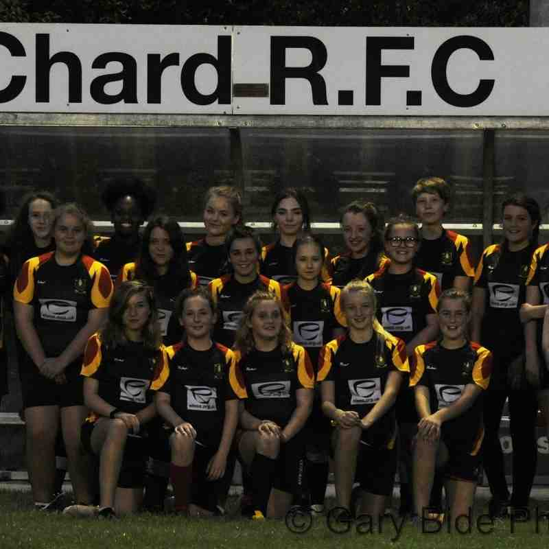 Chard Under 15 Girls Training Evening with Sponsor Eleos Cafe ~ 21 September 2016