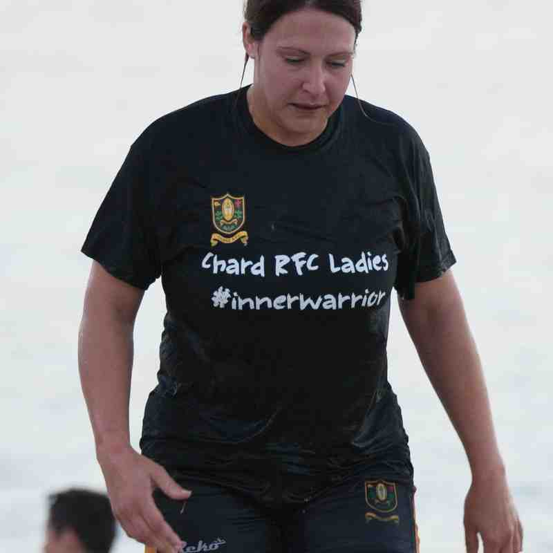 "Chard Ladies XV ""Touch Rugby"" Training Session on Lyme Regis Beach - 26 June 2017"