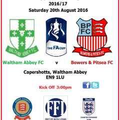 Waltham Abbey 2-2 Bowers & PItsea (FA Cup)