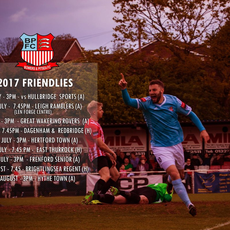 Pre-Season Fixtures Announced plus changes