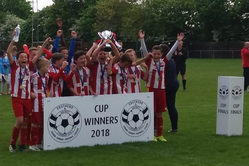 U12's Blue Triumph in Cup Final
