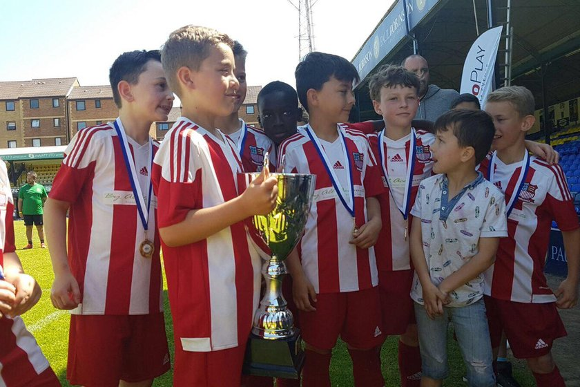 U9's Red Triumph at Roots Hall