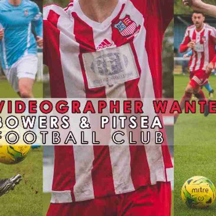 Video Photographer Role Available