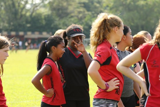 TRC Girls Contact at Training