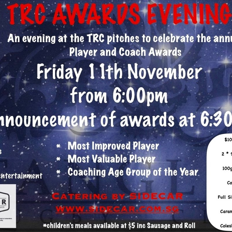 TRC Awards Evening - 11th November
