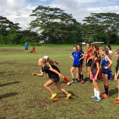 Girls Contact with Singapore Women's Rugby x-Code Challenge