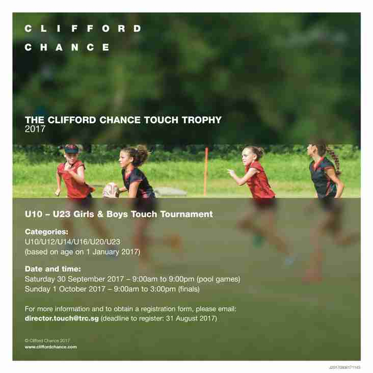Clifford Chance Touch Trophy Tournament 2017 - 30th September & 1st October