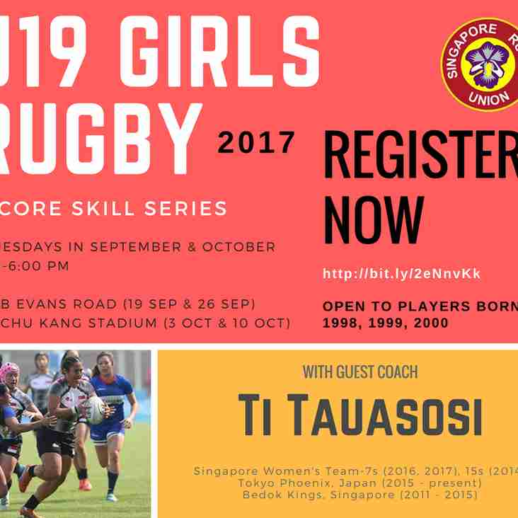 U19 Girls Rugby 7s Skills Development - 4 Tuesdays in September and October