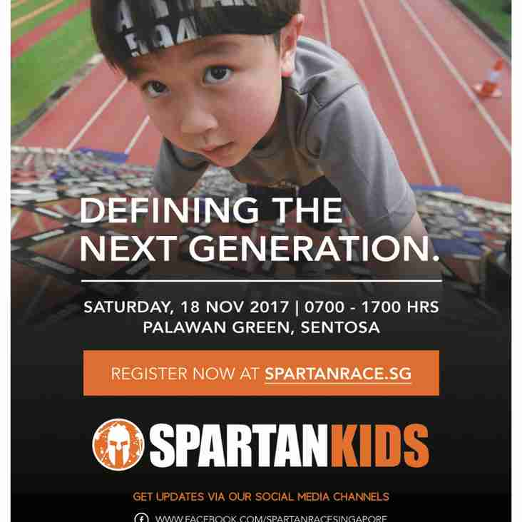 Spartan Kids Race for TRC Members - Special Training and Promo - UPDATE - NEW TRAINING DATE 12th Nov