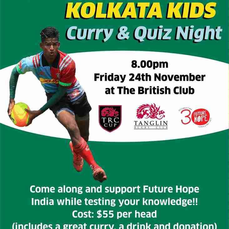 Curry for Kolkata Kids - Curry & Quiz night - 8pm Friday November 24th @ The British Club
