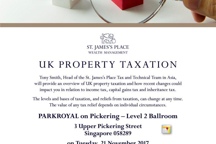 Invitation to St. James's Place UK Property Tax Seminar - 21st November