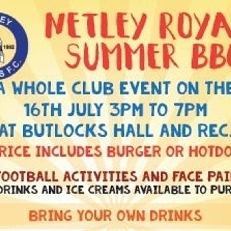 Netley Royals Summer BBQ