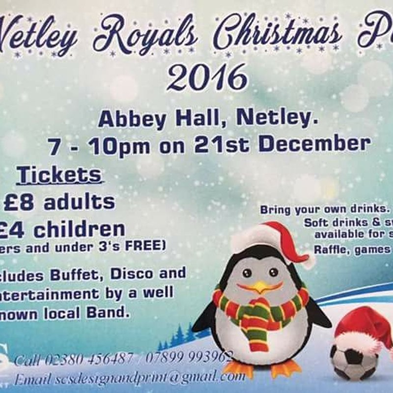 Netley Royals 2016 Christmas Party