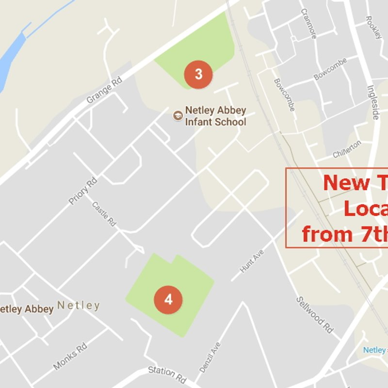 New Training Locations for the teams from 7th October