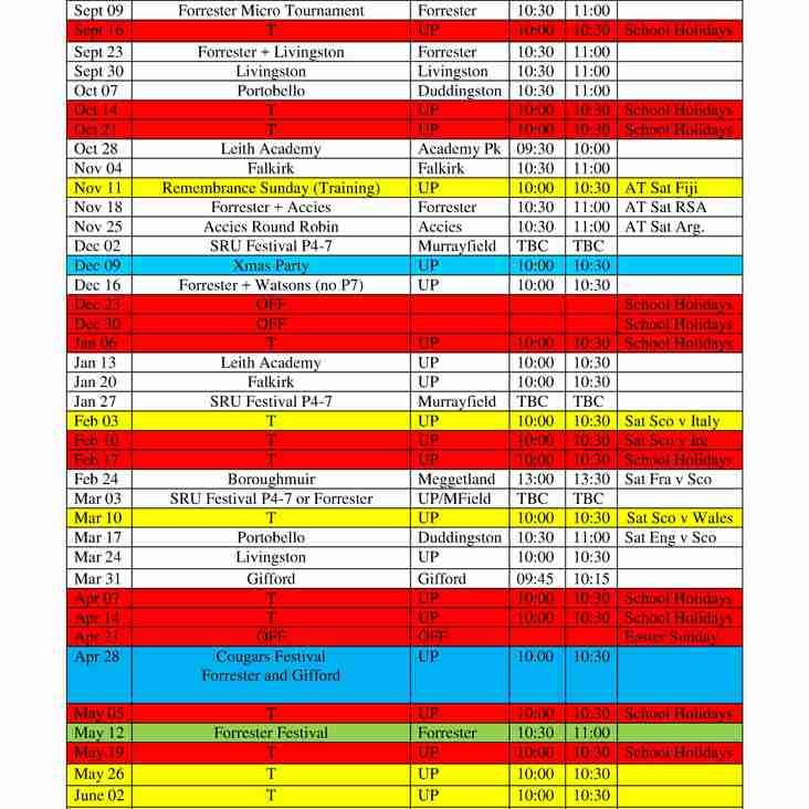 Minis Fixtures 2018/19