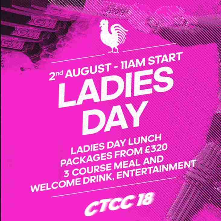 Ladies day at cricket week 2nd August
