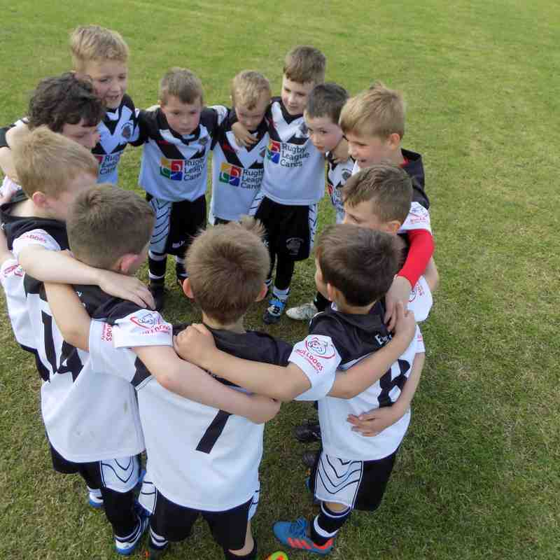 DVB Under 7's away at Garforth Tigers