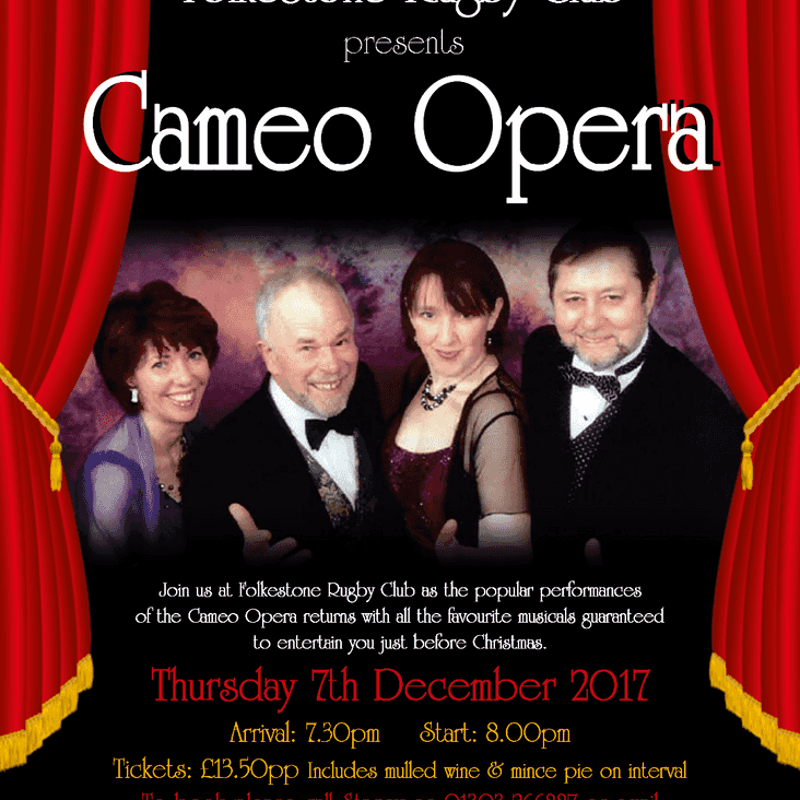Cameo Opera THIS THURSDAY!