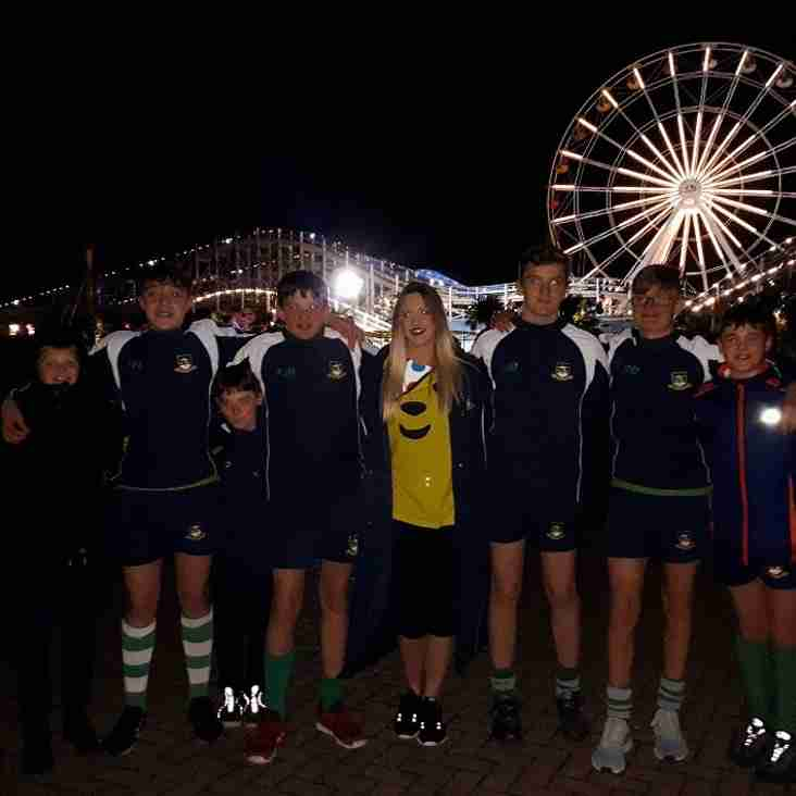Folkestone Rugby Club U14s do Zumba with Stacey live on BBC Children in Need!