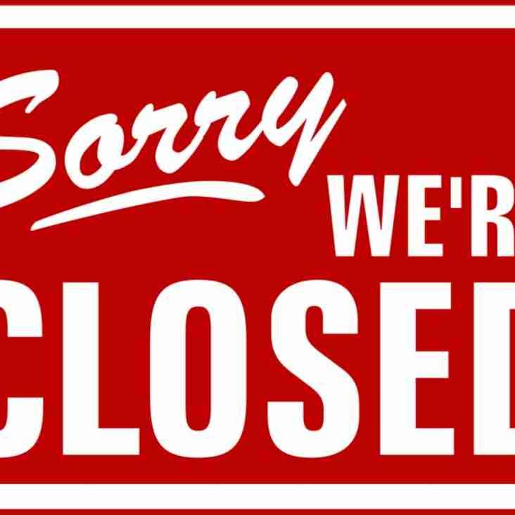 Club Closed 10.12.2017