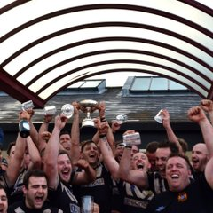 Watch the Bristol Barbarians raise the cup , on winning the cyril Parsons Combination Bowl 38 - 16  Bristol Barbarians V Gloucester Old Elizabethans