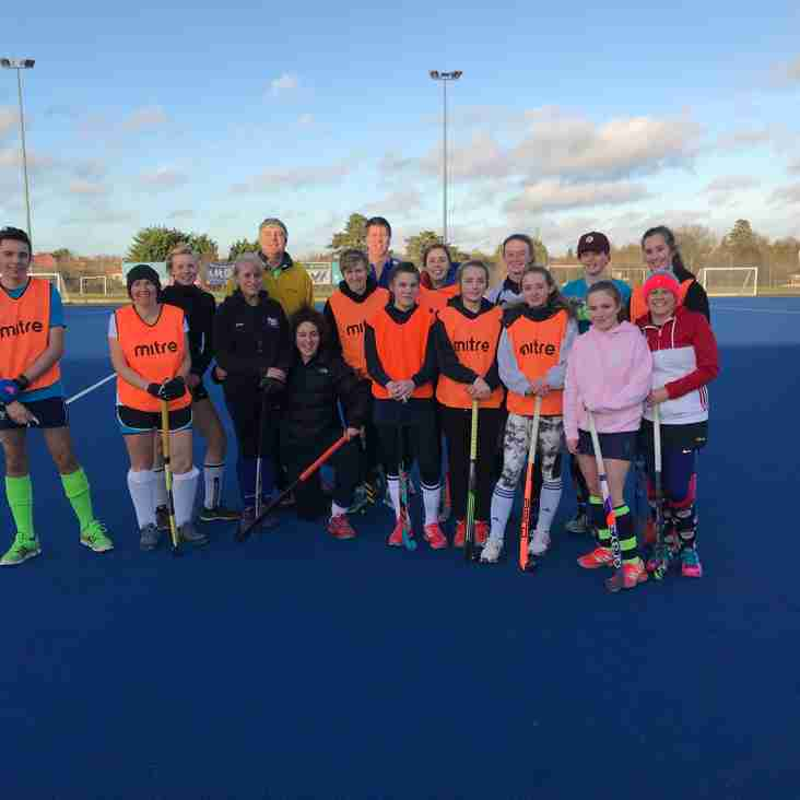 New Years Day Hockey for the brave..........