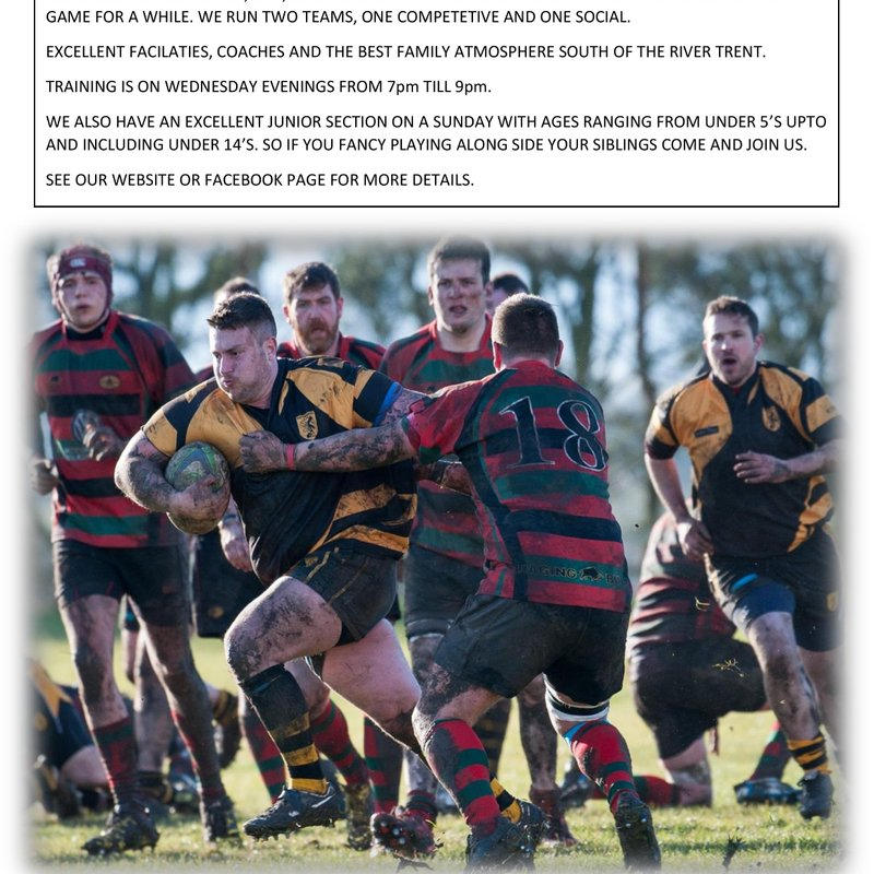 Get Fit, Play Rugby
