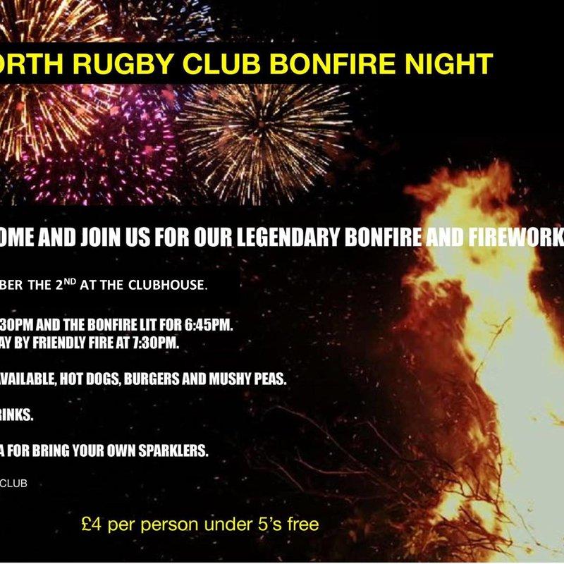Keyworth Rugby Club Annual Bonfire night
