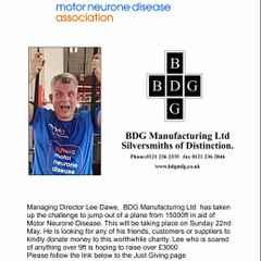 Please donate for Motor Neurone Disease Association