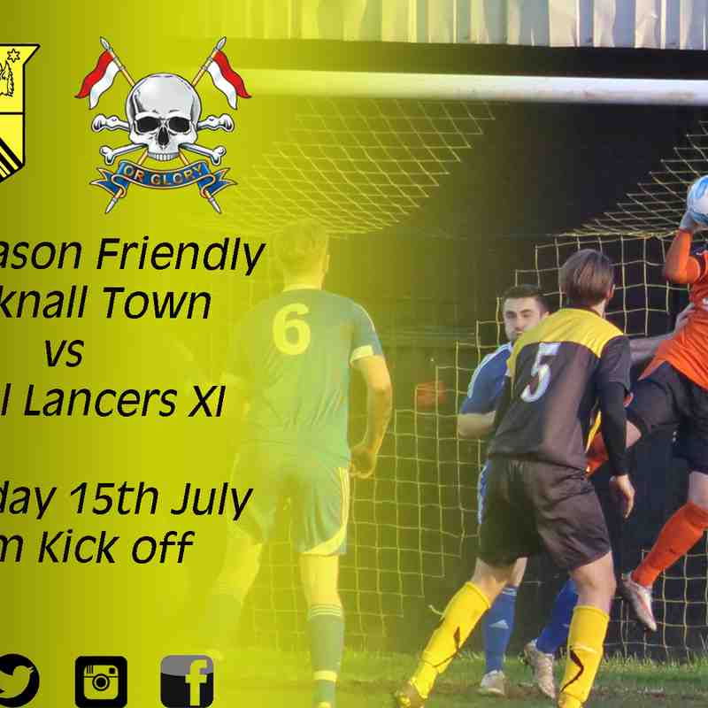 Hucknall Town vs Royal Lancers XI 15-7-17