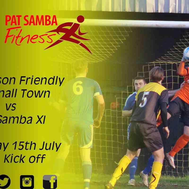 Hucknall Town vs Pat Samba 15-7-17