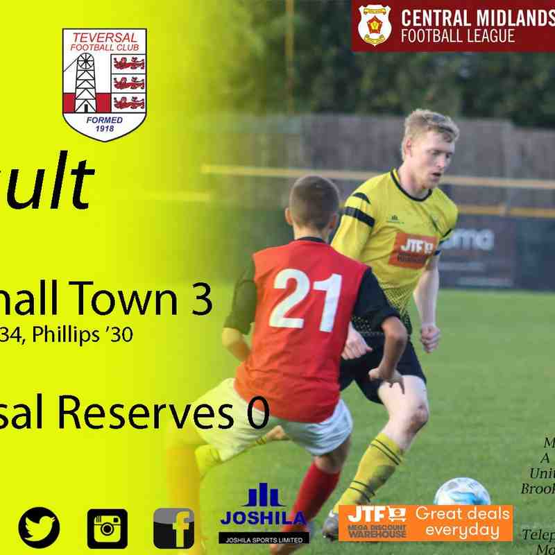 Hucknall Town vs Teversal Reserves 14-10-17
