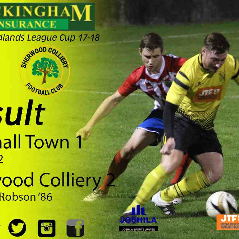 Hucknall Town vs Sherwood Colliery 1-11-17 (League Cup)