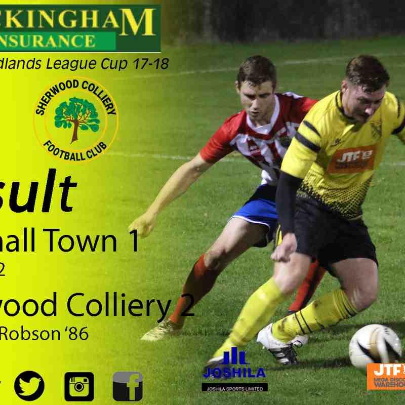 Hucknall Town vs Sherwood Colliery 1-11-17 (League Cup)