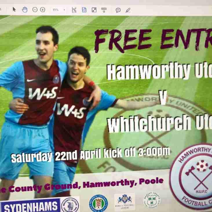 FREE ENTRY TO OUR FINAL GAME OF THE SEASON.