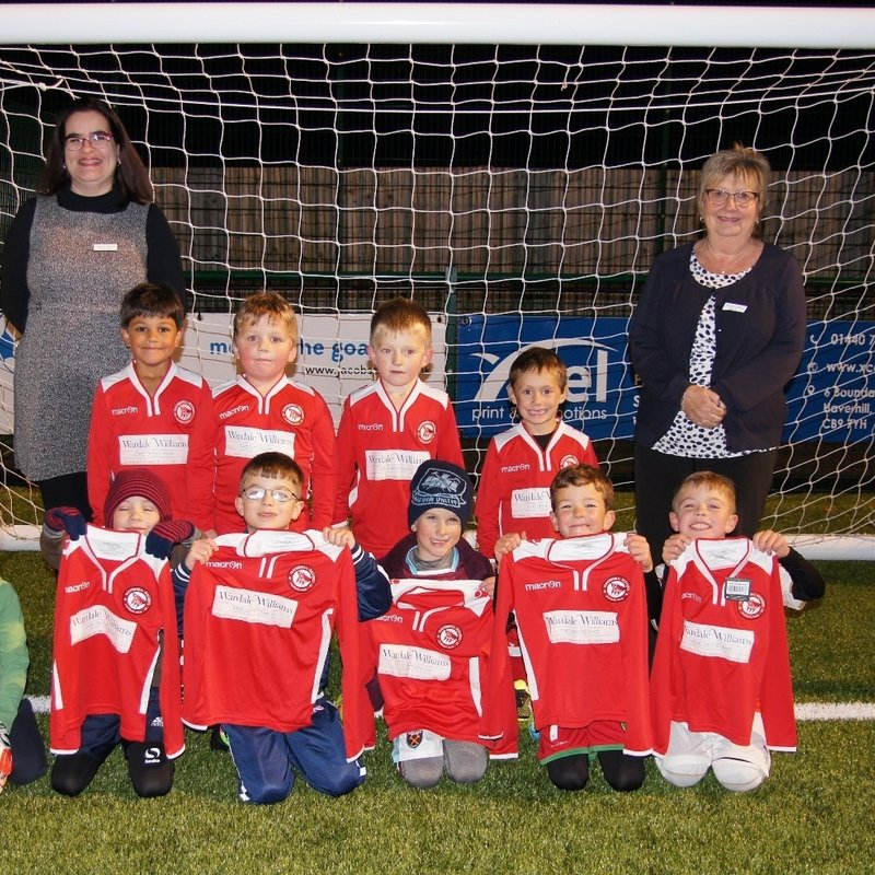 BUDDING YOUNG FOOTBALLERS KITTED OUT THANKS TO SPONSORSHIP DEAL WITH WARDALE WILLIAMS
